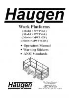 2017 Work Platform Operators Manual